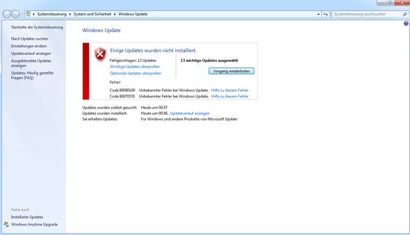 nachher - (Windows-Update, windows-7-update, windows update fehler)