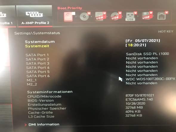 Windows von SSD auf NVMe veschieben?