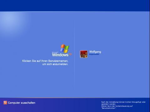 Den will ich haben - (Windows XP, windows-design, Logonscreen)