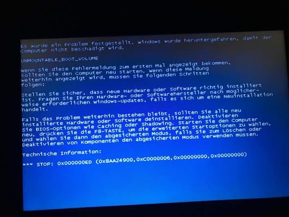 Windows XP zeigt dieses Problem was tun?