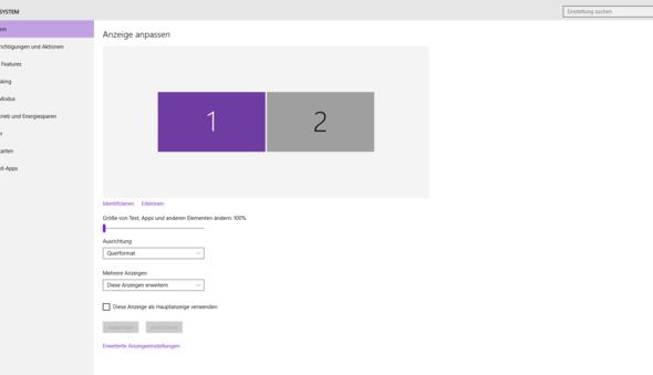 Windows10 Bildschirmauflösung 2. bildschirm! Ich habe grade windows 10 installiert und bei meinem 2. bildschirm (hdmi) ist die auflösung zu groß was nun?