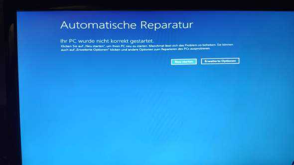Windows10 blue screen nach Neustart?