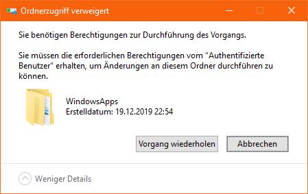Windowsapps Ordner
