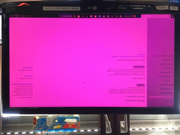 Windowsbildschirm ist rosa, nicht mehr weiß, was kann ich tun?