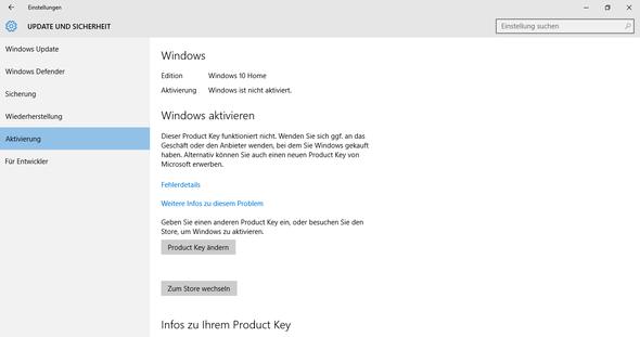 Bild 1 Aktivierung - (Windows 7, Windows 10, aktivieren)