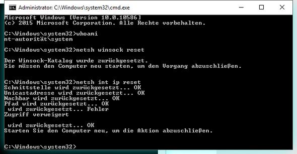 cmd mit sys rechten - (Windows, Netzwerk, Fritz Box)