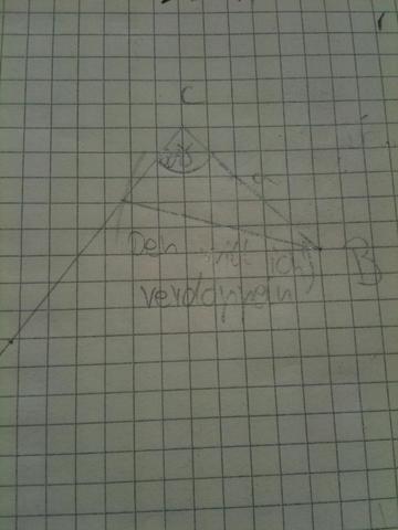Das dreieck - (Mathe, Klasse 7, winkel verdoppeln)