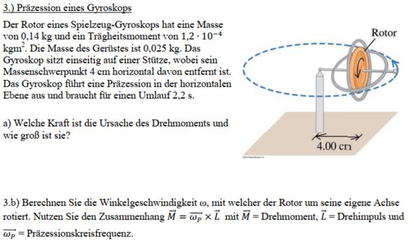 Winkelgeschwindigkeit eines Gyroskops berechnen?