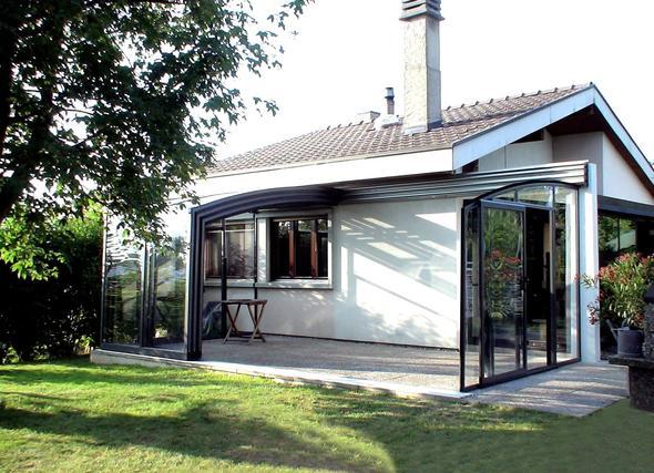 offene CONTENDO Terrassen Überdachung - (wintergarten, Terrassenüberdachung, terrassendach)