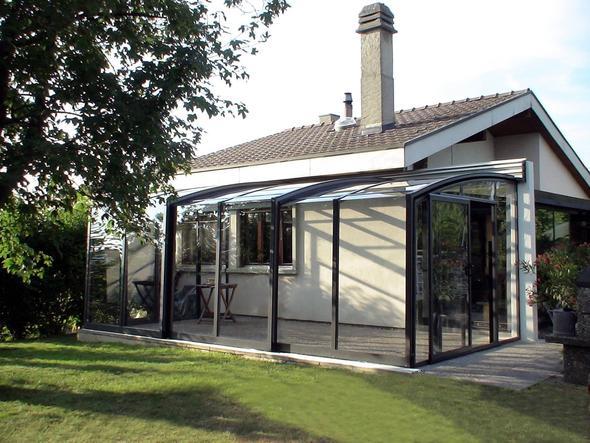 geschlossene CONTENDO Terrassenüberdachung - (wintergarten, Terrassenüberdachung, terrassendach)