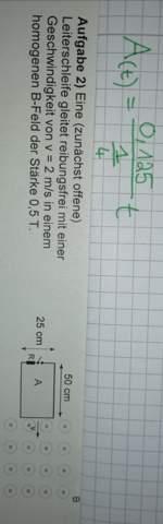 Wie ist mein Lehrer hier auf A (Fläche) gekommen?