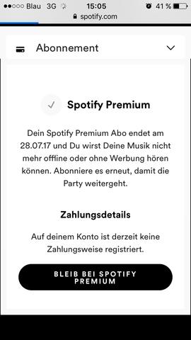 Bild als Hilfe - (Spotify, Abonnement)
