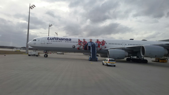 Flieger des FC Bayern - (fliegen, Lufthansa, FC-Bayern)