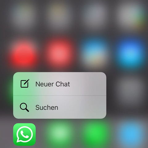 Anzeige 3D Touch  - (iPhone, WhatsApp, 3D Touch)