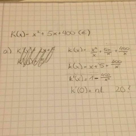 Meine Rechnung  - (Mathe, Studium, Kostenfunktion)