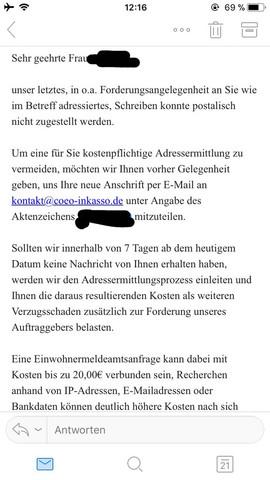 Wish Account Wurde Gehackt Inkasso App E Mail Hacker