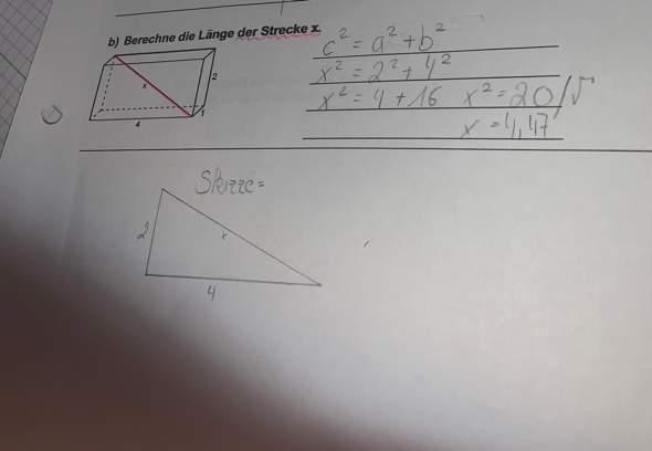 - (Mathe, Mathematik, Satz des Pythagoras)