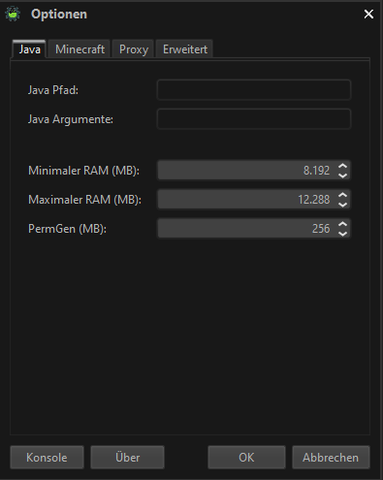 MyFTP Launcher Einstellung - (Minecraft, Java, Modpack)