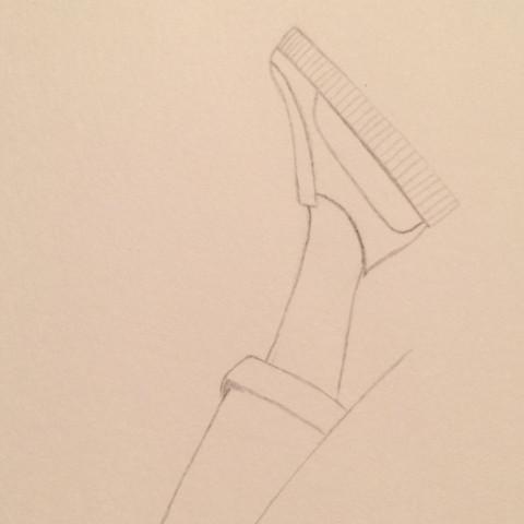 Hier hab ich angefangen gehabt zu zeichnen haha  - (Schuhe, Sneaker, Plateau)
