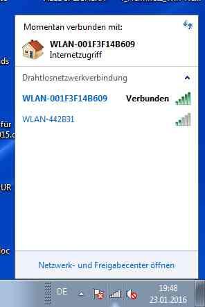 Verbunden wird angezeigt - (WLAN, DSL)
