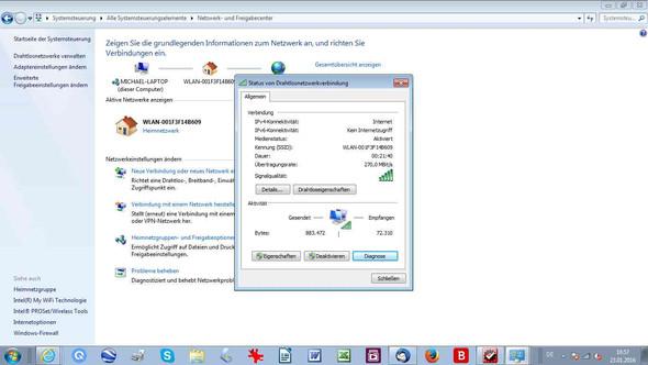 Datenvolumen werden gesendet und empfangen - (WLAN, DSL)
