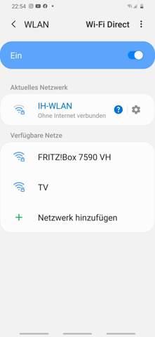 Ohne Internet Verbunden