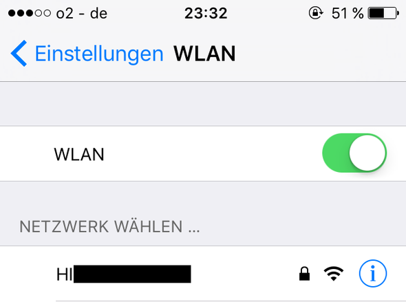 Mein WLAN (etwa ca. 5 Meter entfernt); sollte sich immer automatisch verbinden - (Handy, Technik, iPhone)