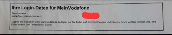 Wo auf meinem Vertrag finde ich das Kunden Kennwort (vodafone)?