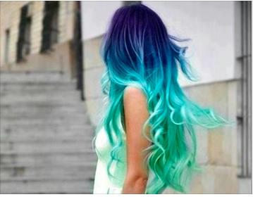 Haarfarbe von mahagoni auf blond