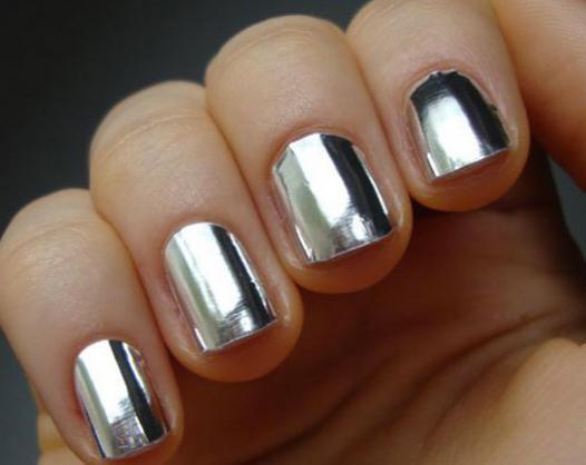 silber metalic nagellack - (Nagellack, Silber)
