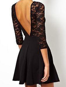 kurzes Kleid - (Mode, Kleid, schwarz)