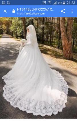 Wo bekommt man ein Brautkleid mit Kopftuch und Schleier? (Mode ...