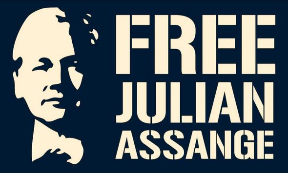 "Wo bekommt man ""free Julian Assange"" Sticker?"