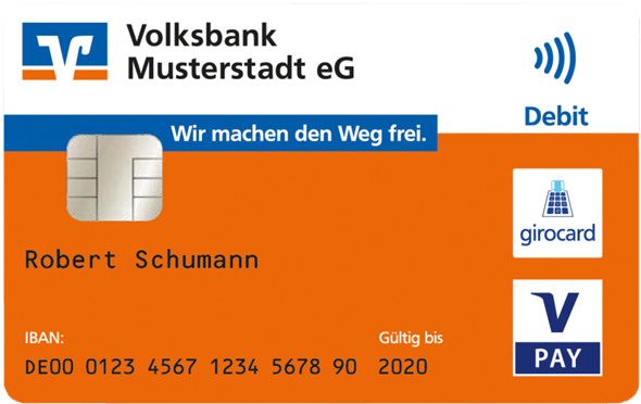 Wo finde ich auf einer Girocard von der Volksbank die Kartennummer und den Sicherheitscode?