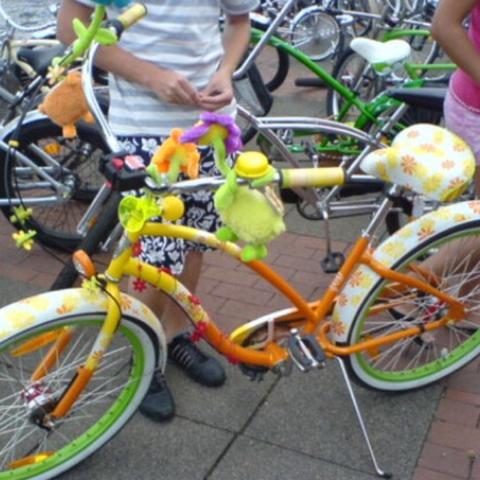 Das Fahrrad kann auch eine andere farbe haben :) Und wie heißt das Model?  - (Fahrrad, bunt, Damen)