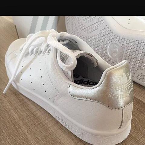 Stan Smith Adidas Weiß Gold