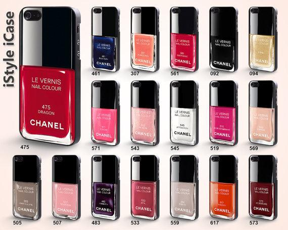 Chanel nail polish Iphone 5 case - (iPhone 5, Chanel, nail polish)