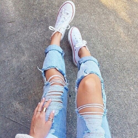 Jeans 2 - (Jeans, ripped)