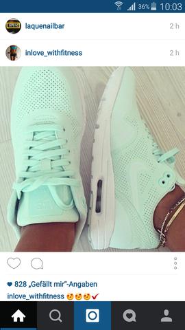 Nike Schuhe Damen Türkis Weiß