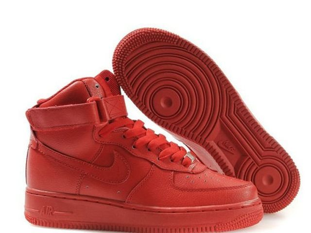 nike air force one ganz rot