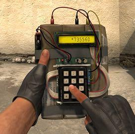 Passwort gesicherte Bombe wird aktiviert   - (Elektronik, programmieren, csgo)