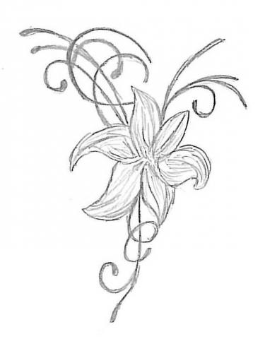 wo finde ich gute florale motive f r ein tattoo. Black Bedroom Furniture Sets. Home Design Ideas