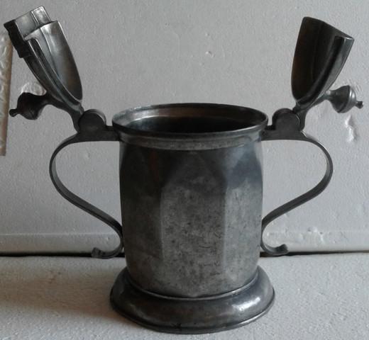 Krug  - (Antik, Punzen, Zinnstempel)
