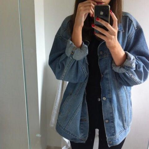 Jeans Jacke:)  - (Mode, Vintage, Jeansjacke)