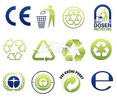 Symbole - (Müll, Recycling, Abfalltrennung)