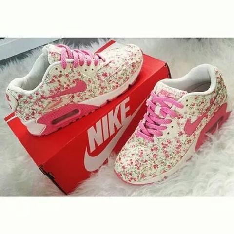 Nike Air Max 90 Blumenmuster pink