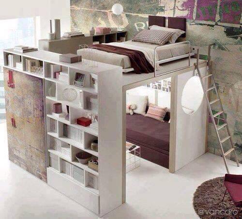 Bett selber bauen podest ikea  Schlafzimmer Jugendzimmer Einrichtungsideen