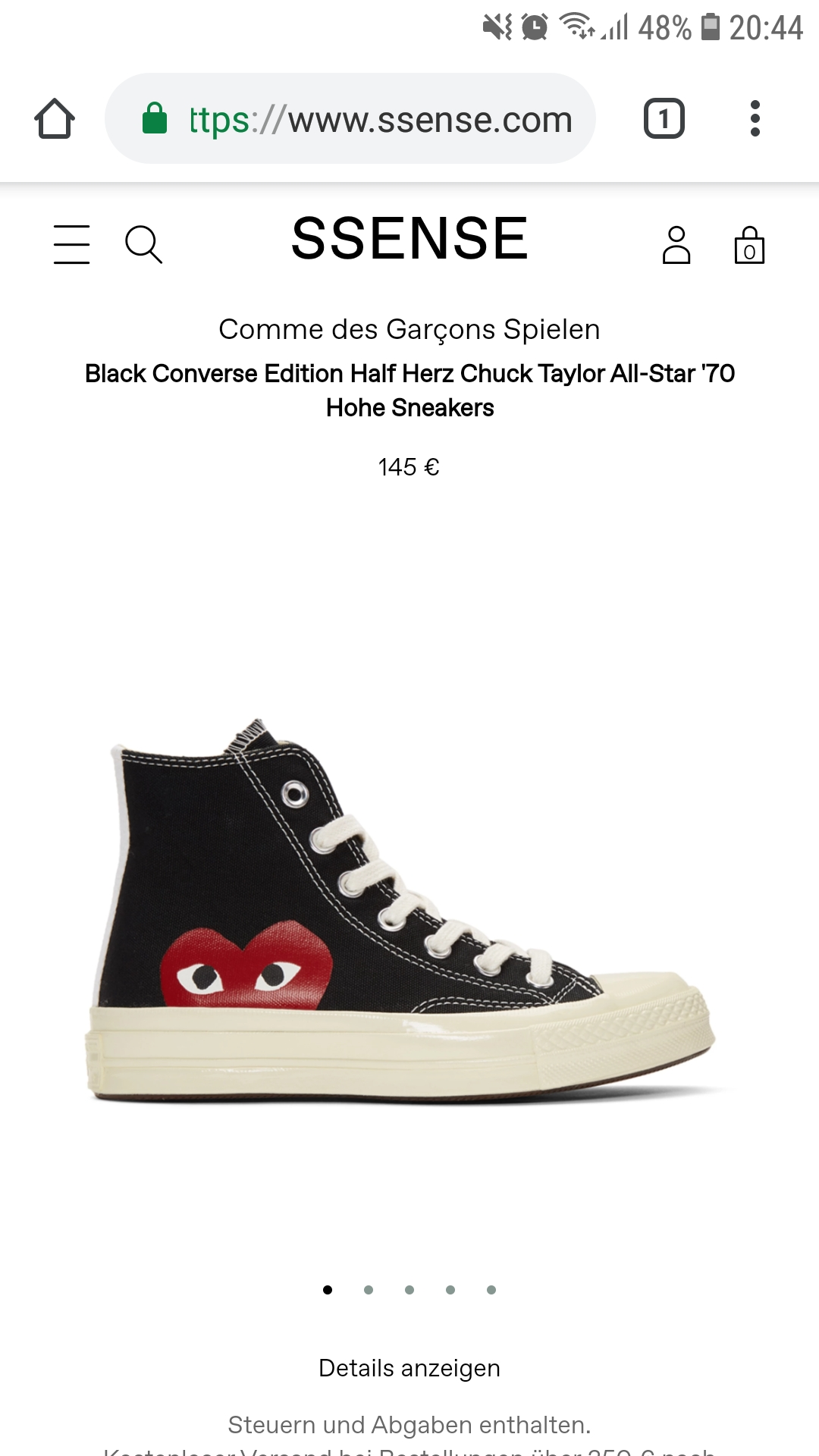 Schwarzer Converse Chuck Taylor Low | Comme Des Garcons Play