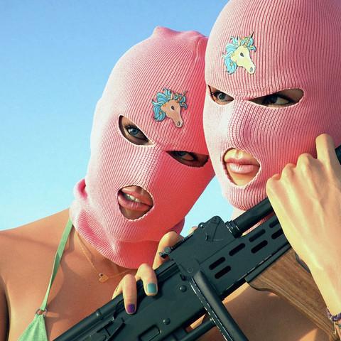 Maske - (Maske, pink, Springbreakers)