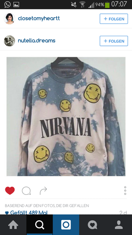 Nirvana - (Pullover, Merchandise, Nirvana)